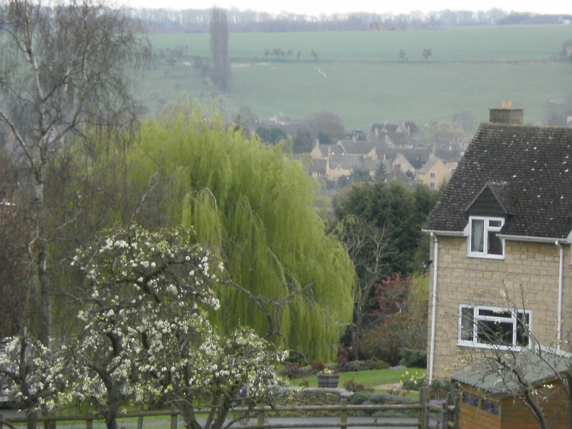 Looking Back at Chipping Campden on Walk to Dover's Hill
