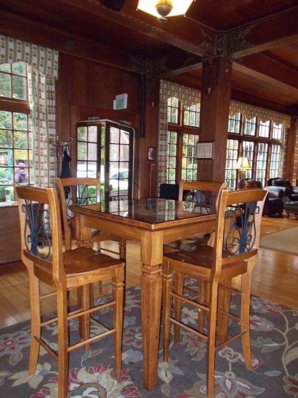 Bar Table at Lake Quinault Lodge