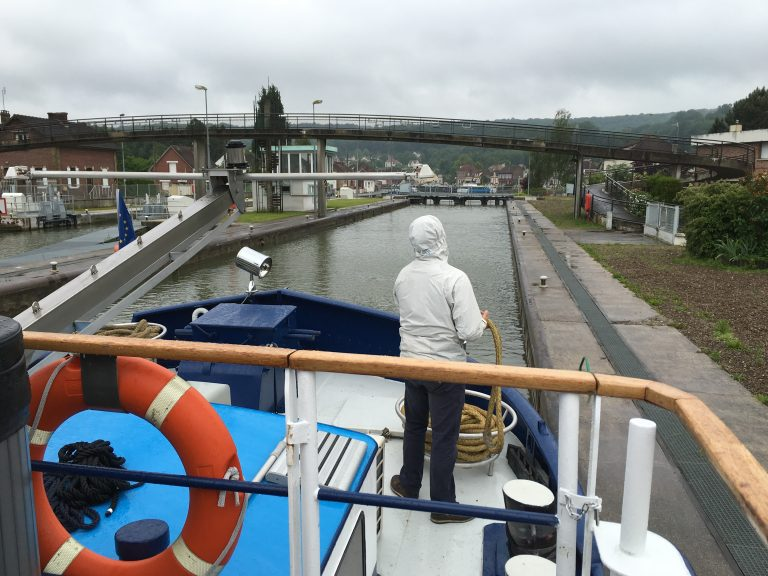 Navigating the Locks of the Canals on Panache Barge - Finding Balance on a Barge in France