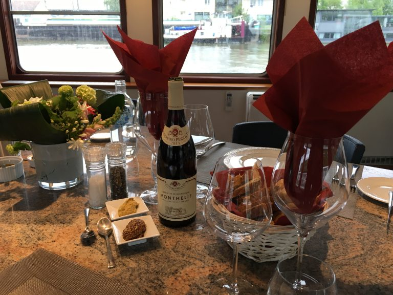 Dinner Aboard Panache - French Barge trip with European Waterways