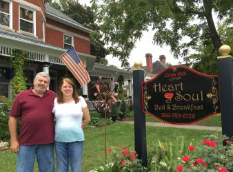 Owners Chris and Pam Bastin Heart & Soul Bed and Breakfast