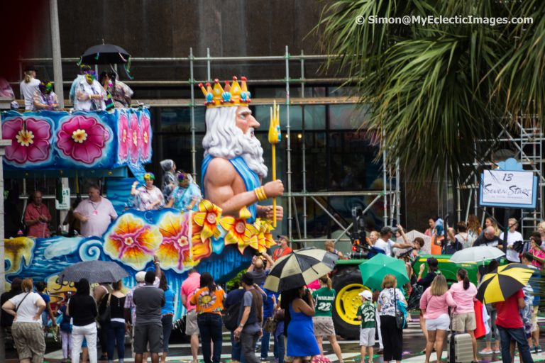 - Float seen on the streets of New Orleans during Mardis Gras