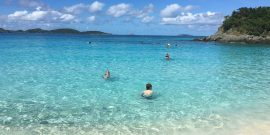 Trunk Bay Swimming